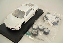 画像1: [再入荷]【32%OFF】Ferrari F430 Challenge Unpainted white kit【フェラーリF430チャレンジ ホワイトキット】